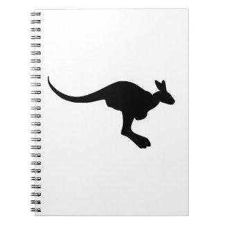 Kangaroo Silhouette Notebook