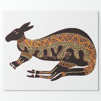 Kangaroo Single on White Wrapping Paper