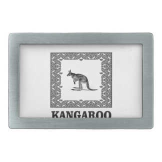 kangaroo squared rectangular belt buckle