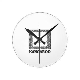 kangaroo squared round clock