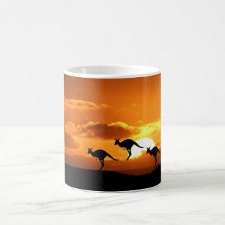 Kangaroo Sunset Coffee Mug