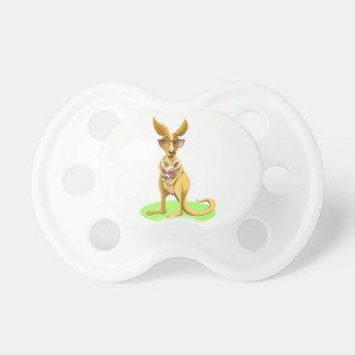 Kangaroo with glasses pacifier