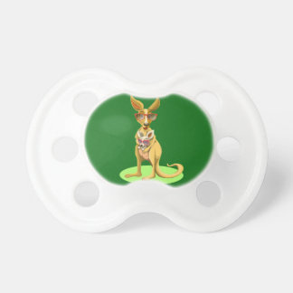 Kangaroo with glasses pacifier