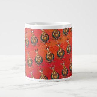 Kangaroo Xmas On Red Giant Coffee Mug