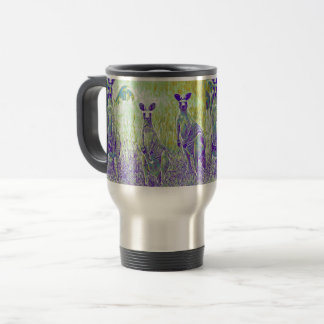Kangaroos Australia Travel Mug