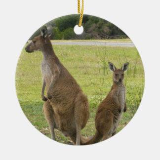 Kangaroos Ceramic Ornament