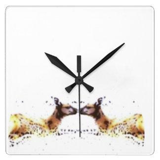 Kangaroos - Happy animal series Square Wall Clock