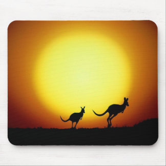 Kangaroos in the Australian Outback Mouse Pad