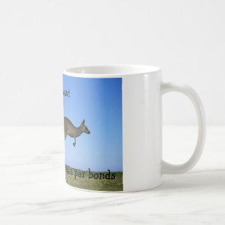 Kangaroos leaping coffee mug
