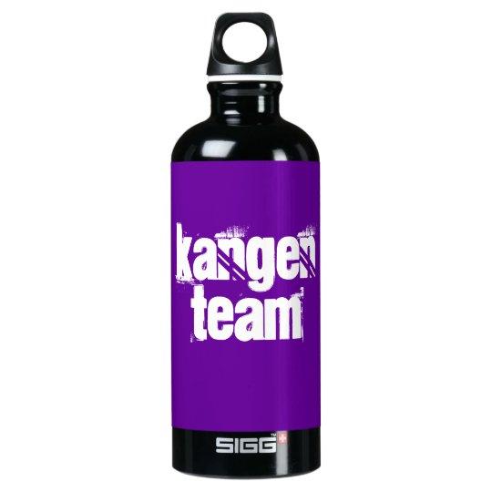Kangen Team Aluminium Bottle white on purple