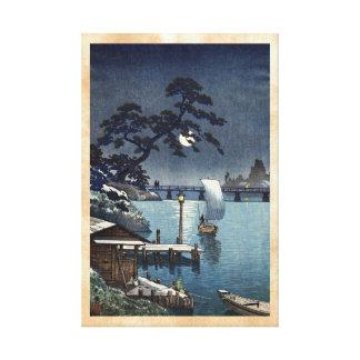 Kangetsu Bridge, Shimonoseki on Early Autumn Gallery Wrap Canvas