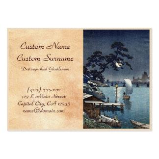 Kangetsu Bridge, Shimonoseki on Early Autumn Large Business Card