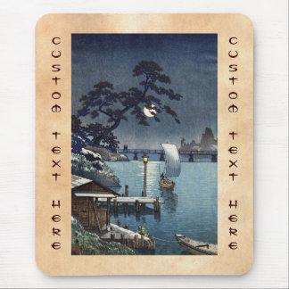 Kangetsu Bridge, Shimonoseki on Early Autumn Mouse Pad
