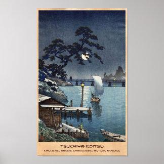Kangetsu Bridge, Shimonoseki on Early Autumn Poster