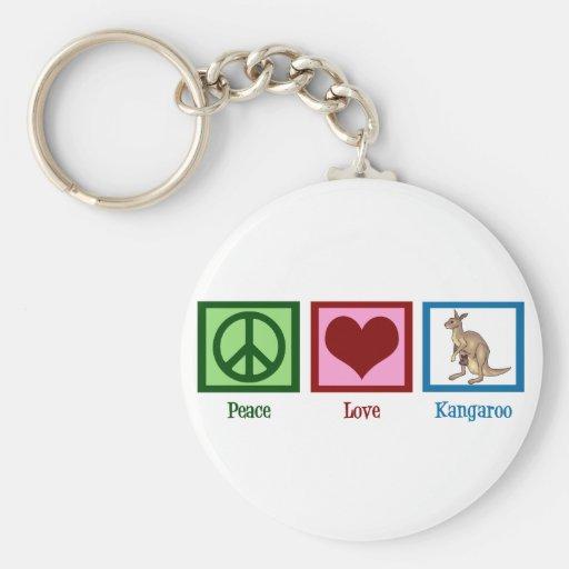 Kangourou d'amour de paix porte-clefs