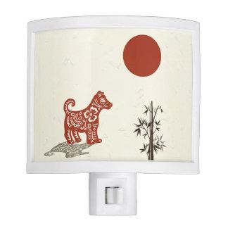 Kanji Dog on Beige Nite Lights
