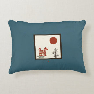 Kanji Dog Tile Accent Pillow