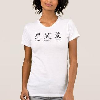 kanji live laugh love ladies argyle V-neck (fitted T-Shirt