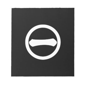 Kanji numeral one in circle notepad