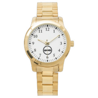 Kanji numeral one in circle wrist watch