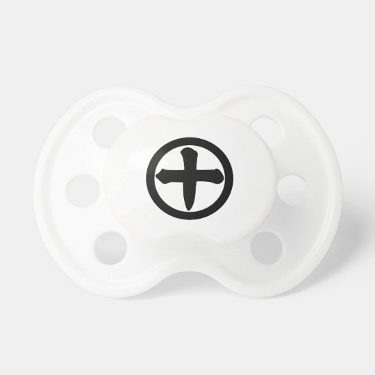 Kanji numeral ten in circle pacifiers