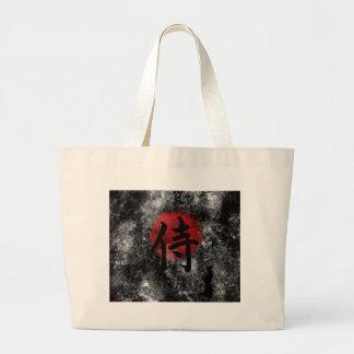 Kanji Samurai Grunge 2 Large Tote Bag