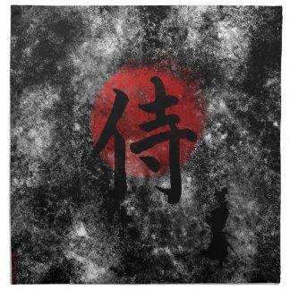 Kanji Samurai Grunge 2 Napkin