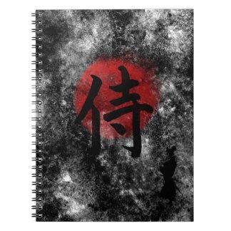 Kanji Samurai Grunge 2 Note Book