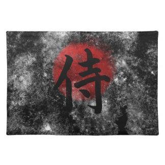 Kanji Samurai Grunge 2 Placemat