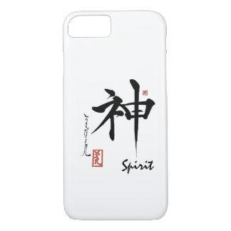 Kanji Symbol SPIRIT Japanese Chinese Calligraphy iPhone 8/7 Case