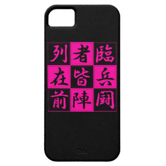 "<Kanji> Talisman ""KUJI-GosinBou "" iPhone 5 Case"