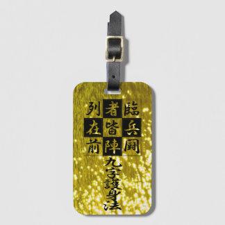 "<Kanji> Talisman ""KUJI-GosinBou "" Luggage Tag"