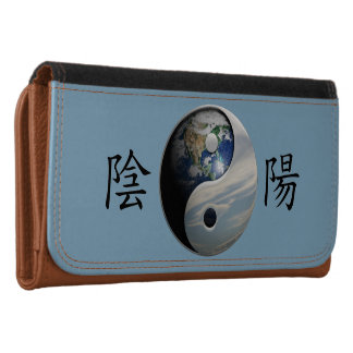 Kanji with Earth & Sky Yin Yang Wallet