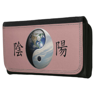Kanji with Earth & Sky Yin Yang Wallet For Women