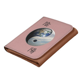 Kanji with Earth & Sky Yin Yang Wallets
