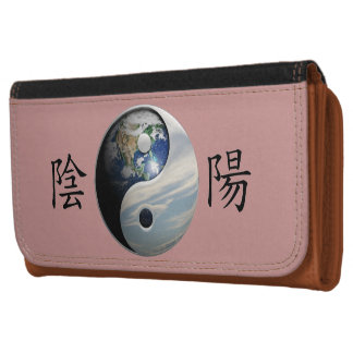 Kanji with Earth & Sky Yin Yang Wallets For Women