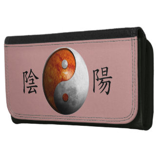 Kanji with Sun & Moon Yin Yang Women's Wallets