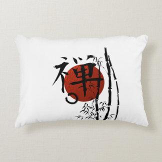 Kanji_zen enso bamboo decorative pillow