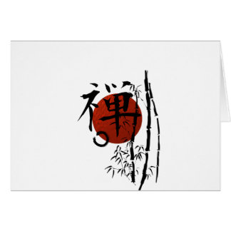 Kanji Zen with Enso and Bamboo Card