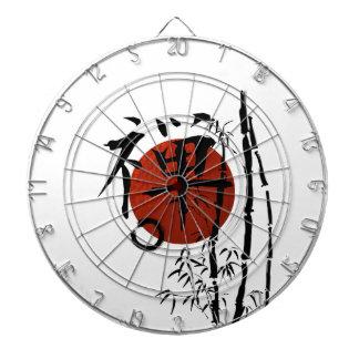 Kanji Zen with Enso and Bamboo Dartboard