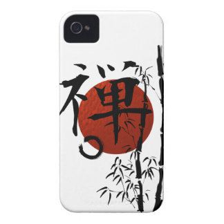Kanji Zen with Enso and Bamboo iPhone 4 Cover