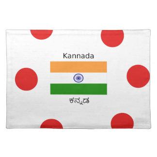 Kannada Language And Indian Flag Design Placemat