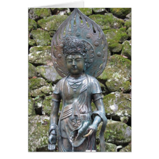 Kannon (Kwan Yin) statue on Mt. Kurama ~ Card