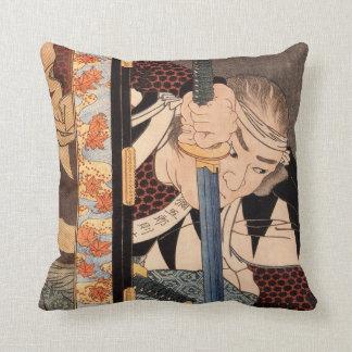 Kansaki Yagoro Noriyasu seen behind a transparent Throw Pillow