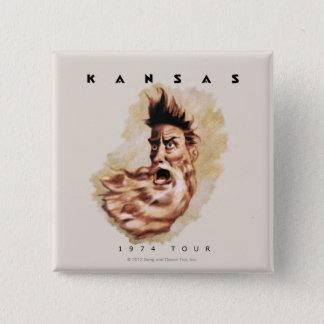 KANSAS - 1974 Tour 2 Inch Square Button