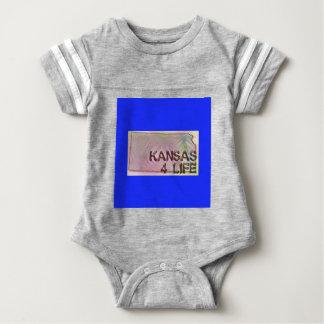 """""""Kansas 4 Life"""" State Map Pride Design Baby Bodysuit"""
