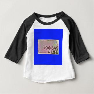"""""""Kansas 4 Life"""" State Map Pride Design Baby T-Shirt"""