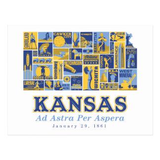 Kansas - Ad Astra Per Aspera - Postcard