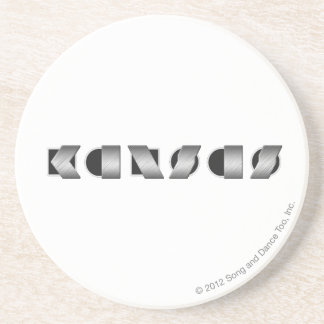 KANSAS Black and White Coaster