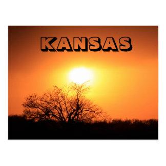 Kansas Blazing Sunset Postcard